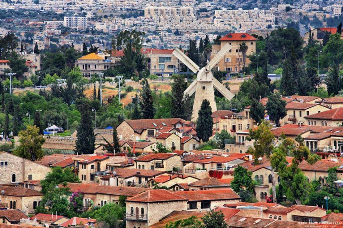 Ιερουσαλήμ πόλη με γοητεία υπέροχες φωτογραφίες με παραδοσιακά σπίτια