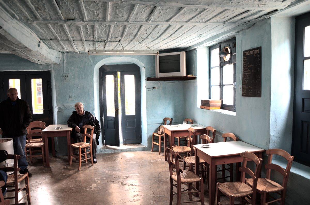 παραδοσιακό καφενείο του Φορλίδα στο Πήλιο