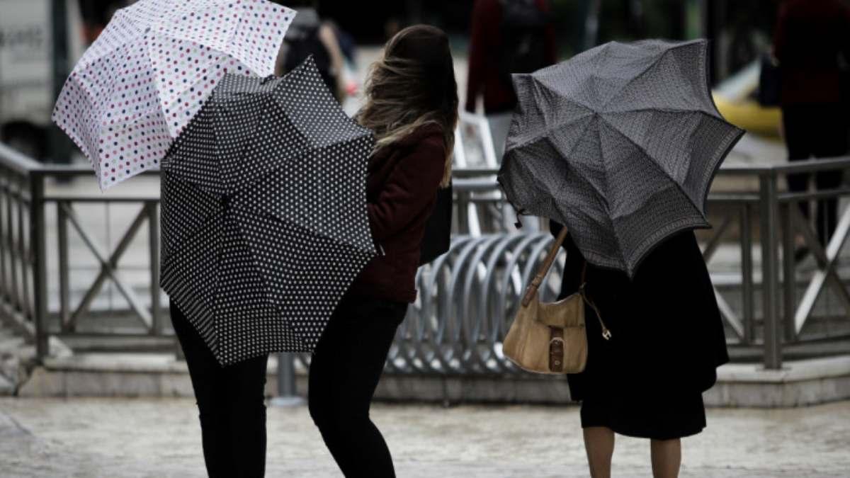 κακοκαιρία Ελλάδα με βροχές και ισχυρούς ανέμους