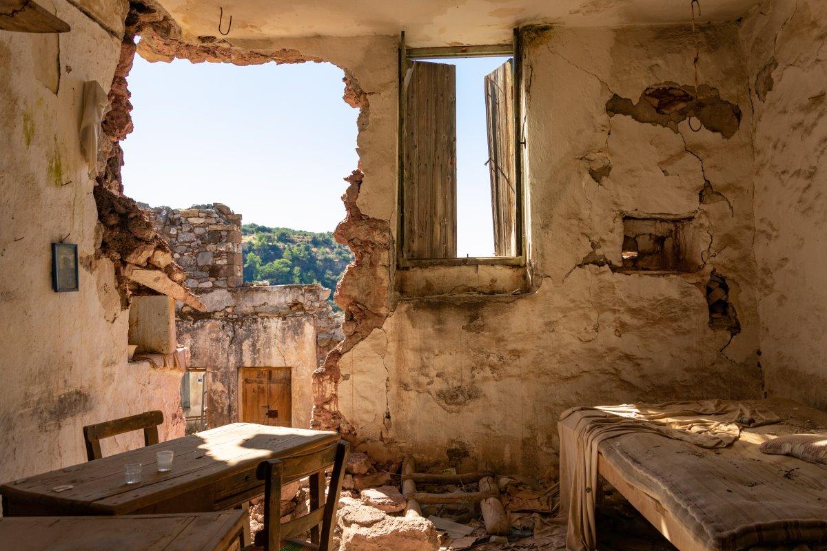 Καλάμι, Ηράκλειο, εγκαταλελειμμένο σπίτι στο  χωριό