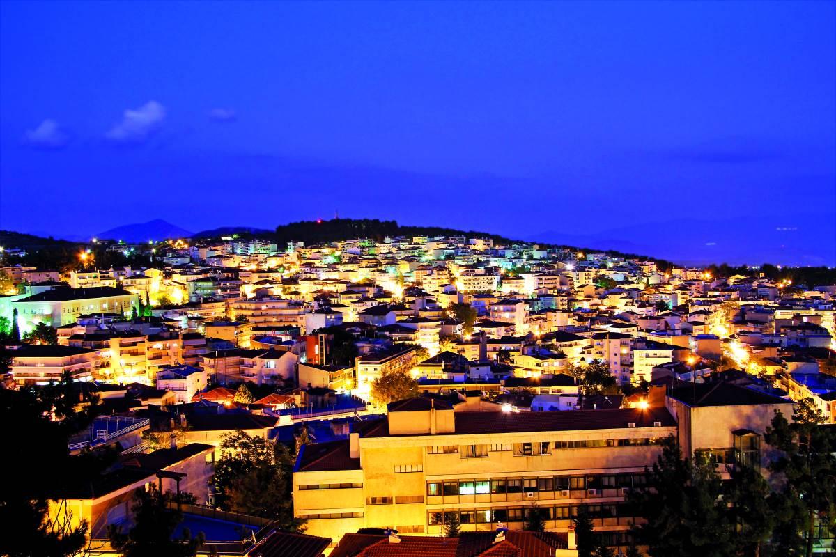 Κοζάνη, πανοραμική εικόνα της πόλης
