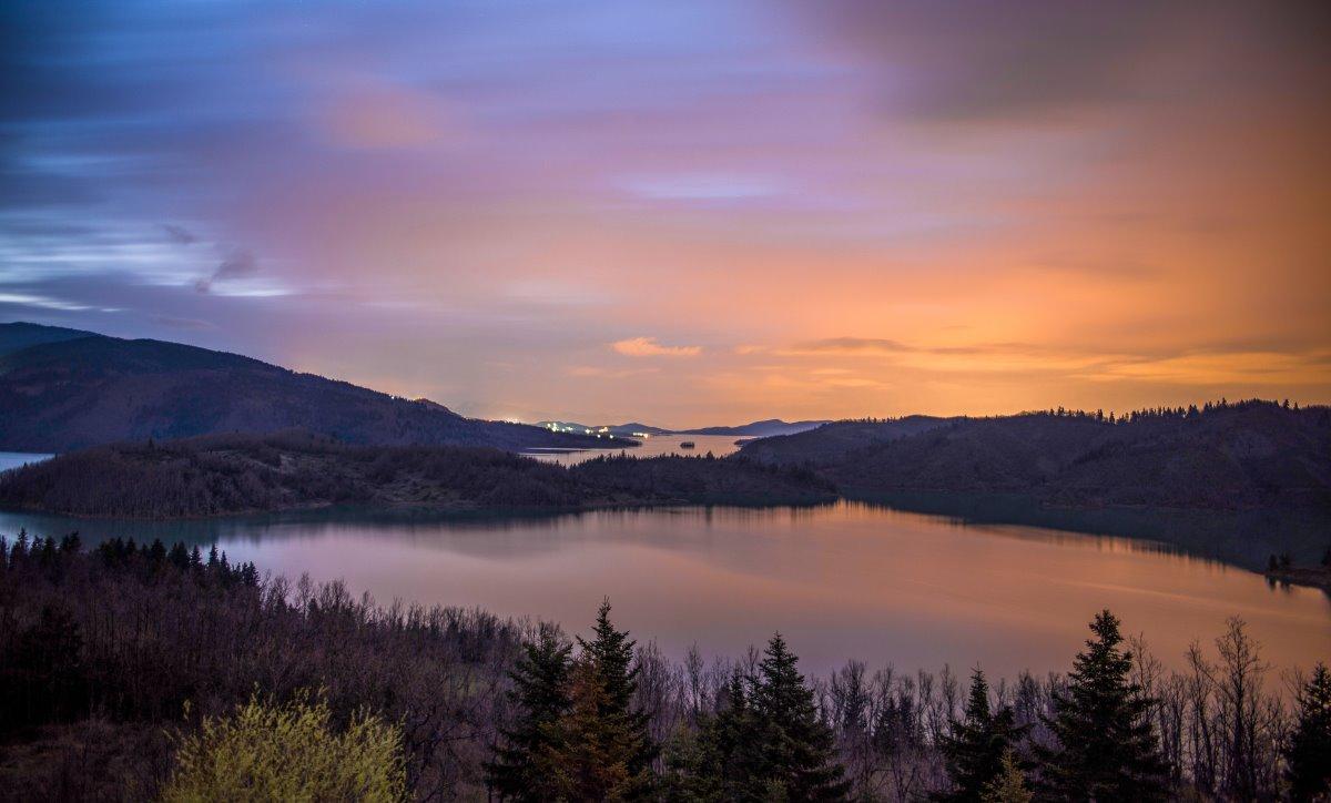 Λίμνη Πλαστήρα, σούρουπο