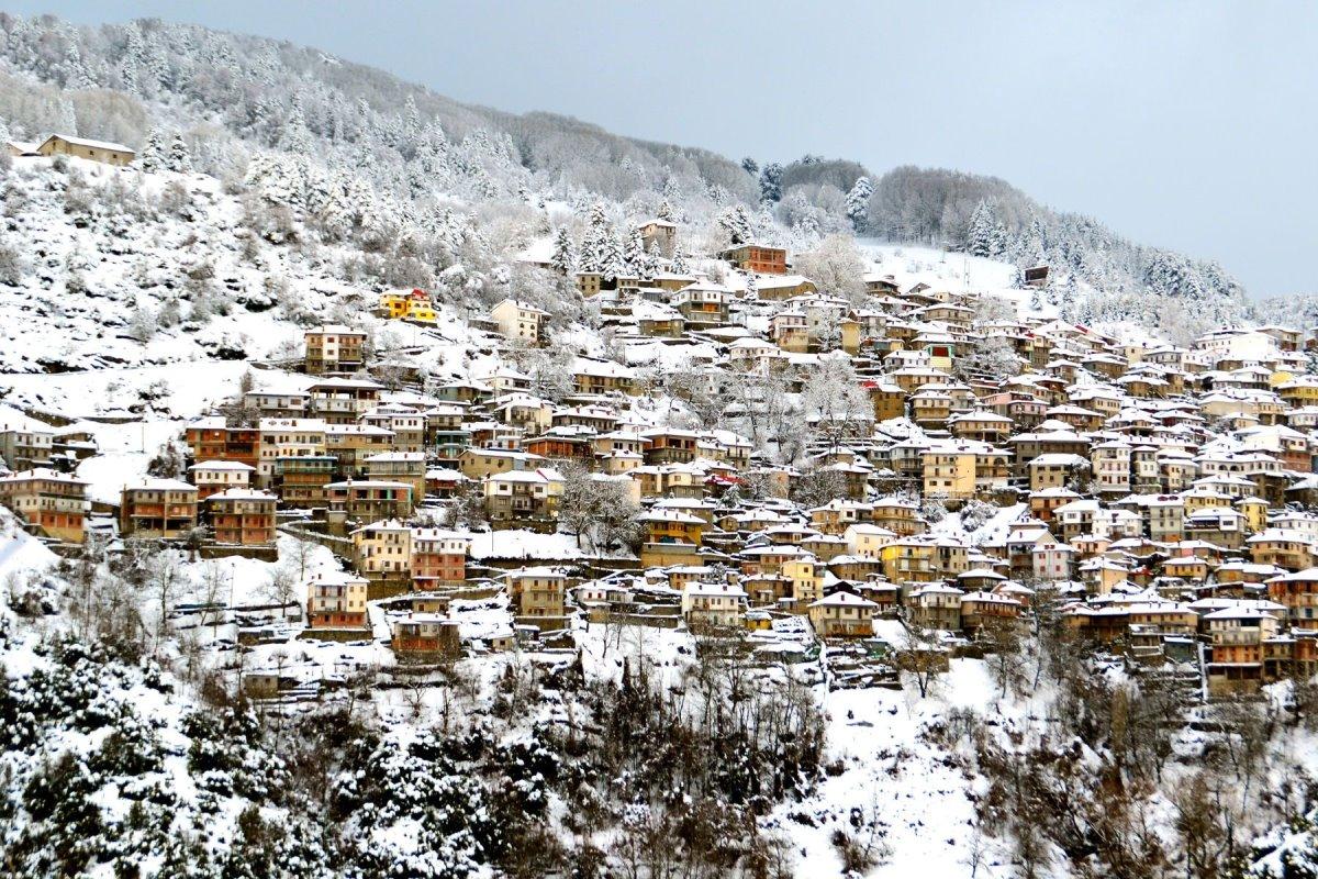 Μέτσοβο χειμώνας χιόνια