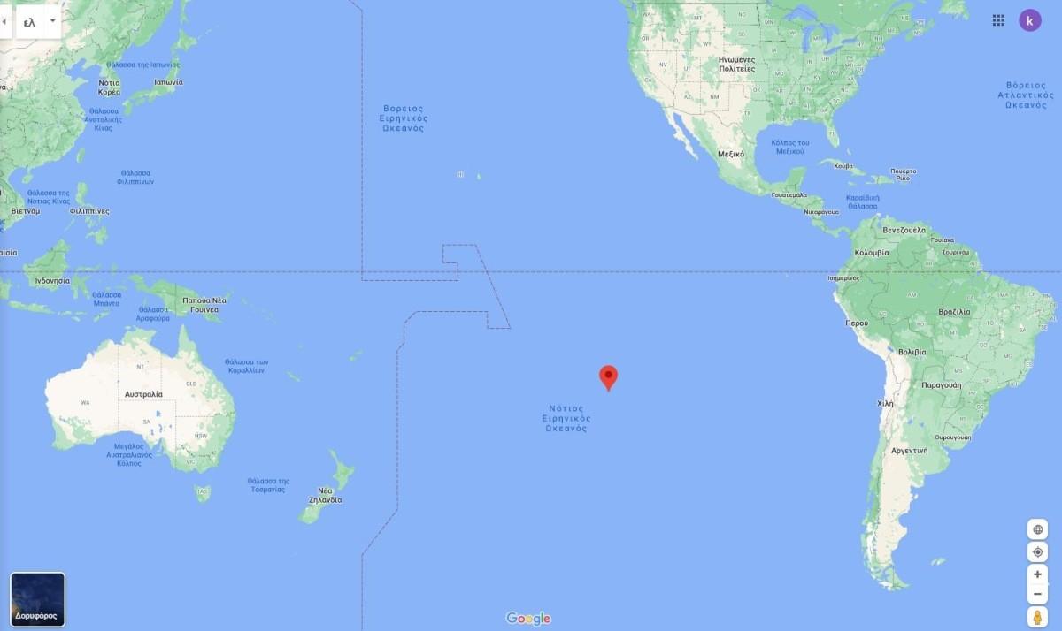 Το νησί Πίτκαιν στον χάρτη