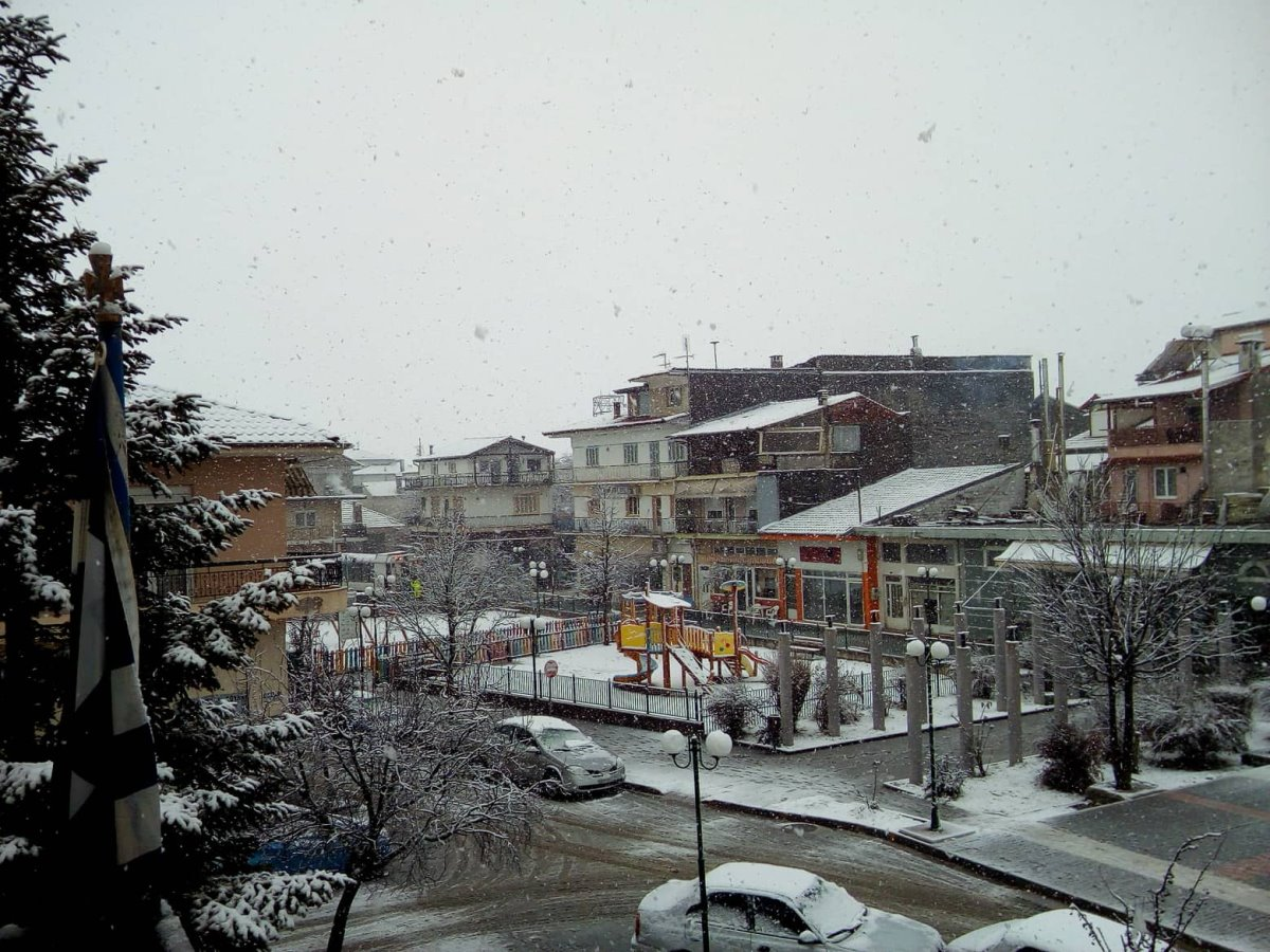 Νευροκόπι Σιβηρία χιόνια μέσα στην πόλη