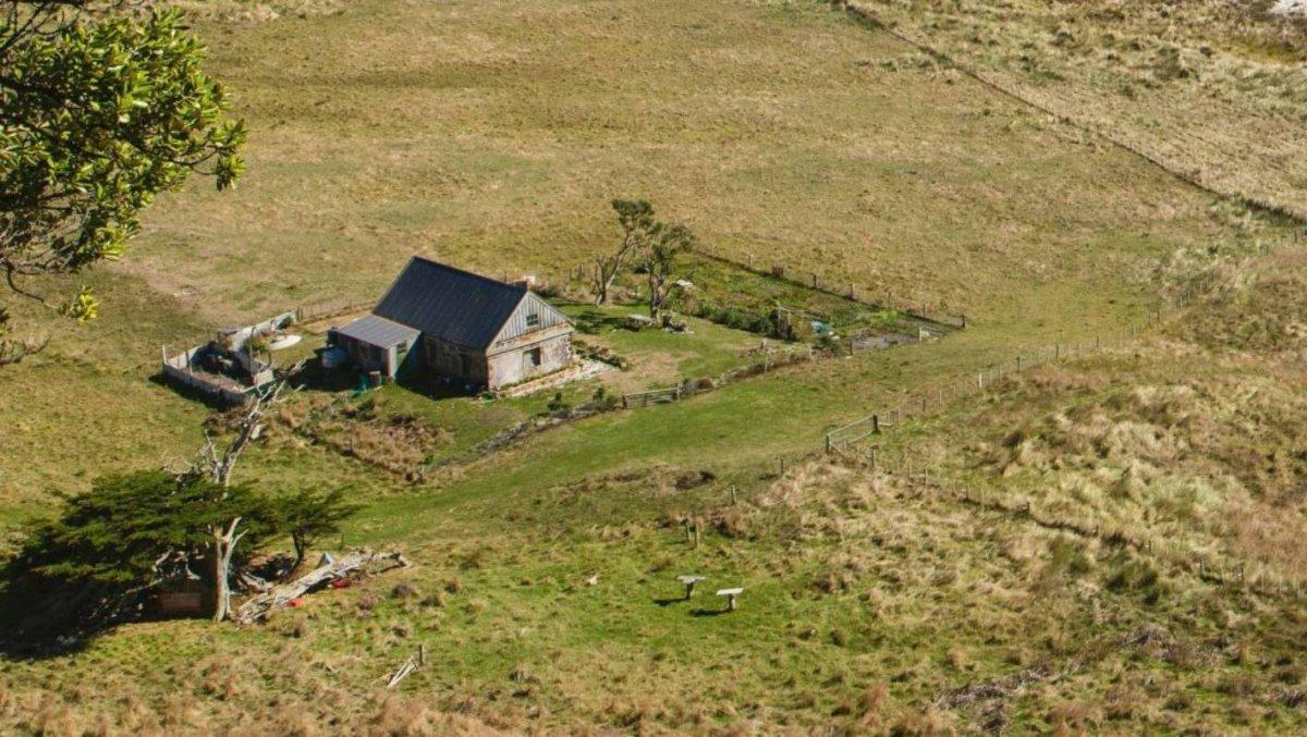 Νησιά Τσατάμ Νέα Ζηλανδία με γραφικά σπίτια στη φύση