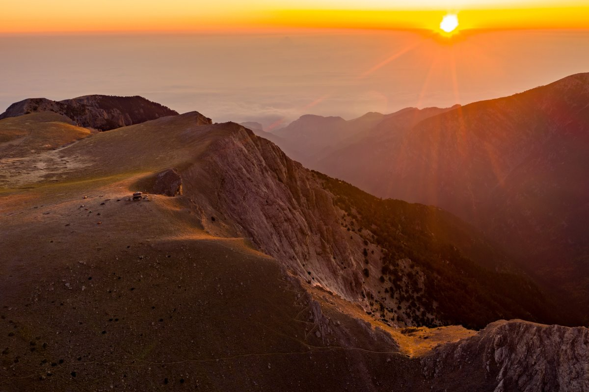 Όλυμπος, ηλιοβασίλεμα