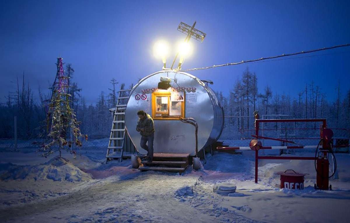 Oymyakon η πιο κρύα πόλη στον κόσμο κατάστημα για καφέ και τσάι