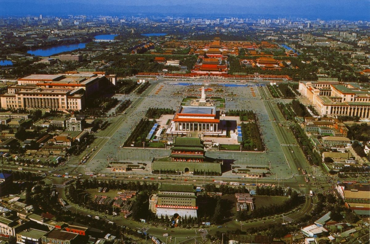 Πλατεία Tiananmen Πεκίνο πανοραμική λήψη