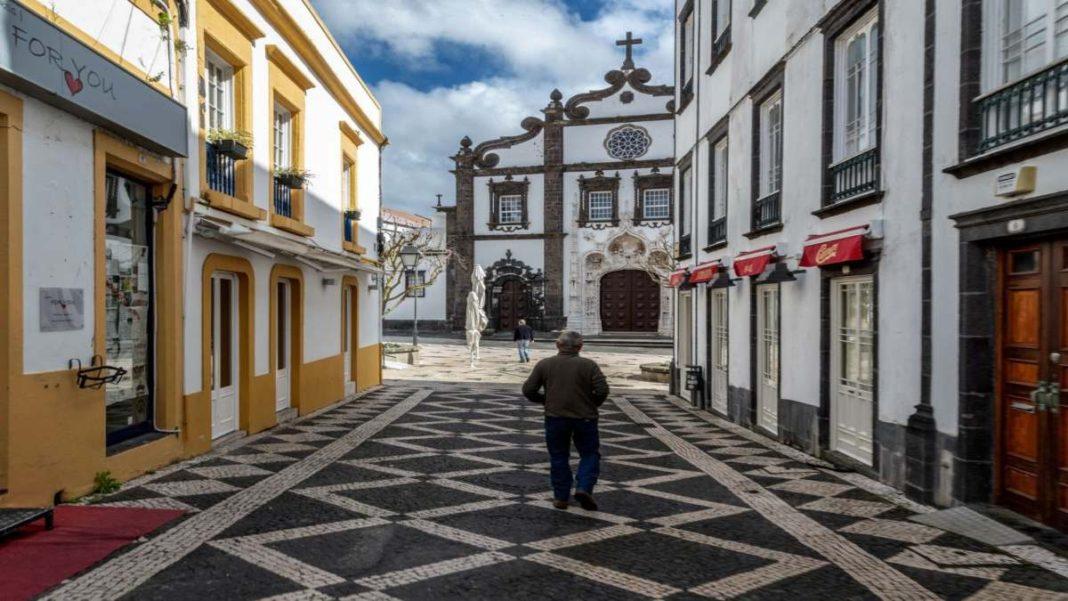 Πορτογαλία άδεια πόλη με μερικό lockdown