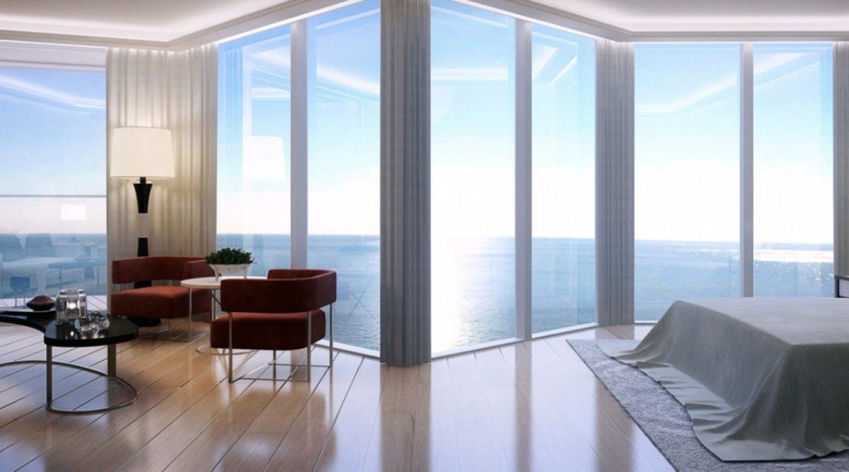 Luxurious ρετιρέ Μονακό πισίνα υπνοδωμάτιο με παράθυρα