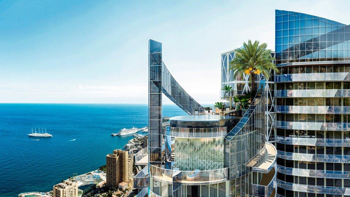 Luxurious ρετιρέ Μονακό πισίνα γυάλινος πύργος
