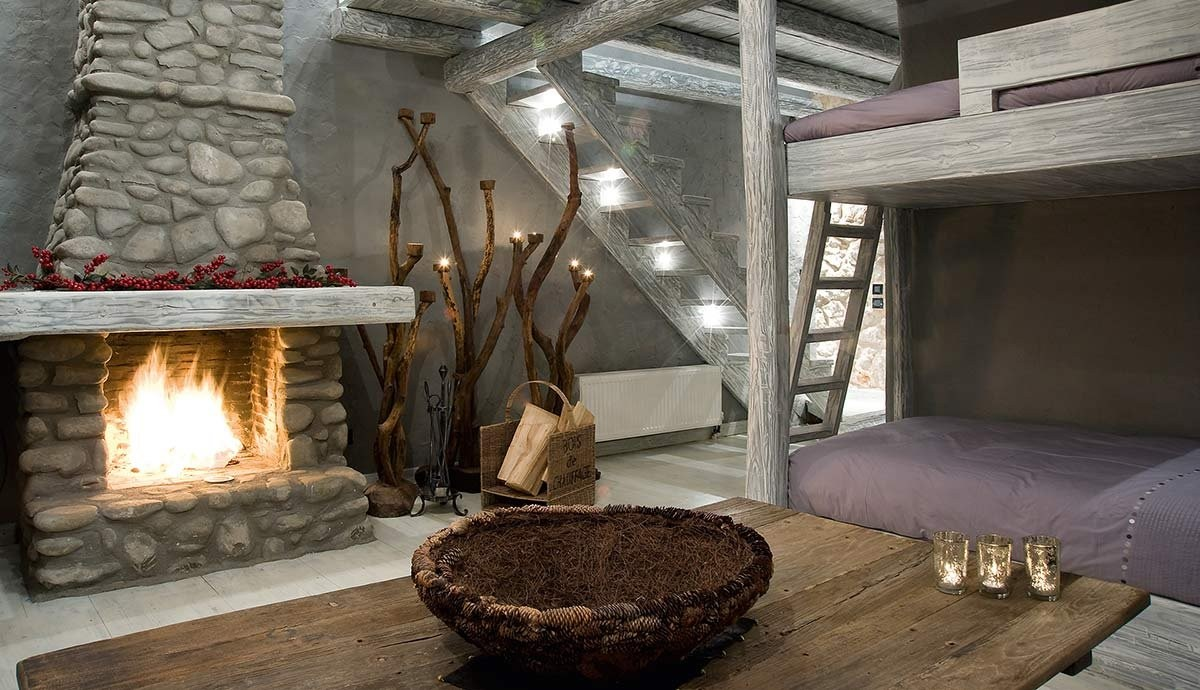 ξενώνας Teresa Country Lodge Αγόριανη δωμάτιο με τζάκι