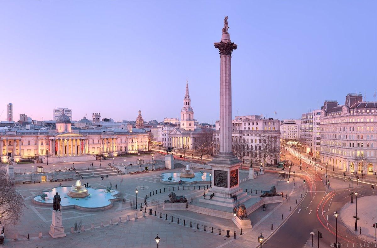 Πλατεία Trafalgar Βρετανία διάσημη και ιστορική