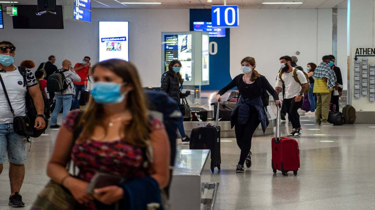 ταξίδι με αεροπλάνο με βεβαίωση εμβολιασμού
