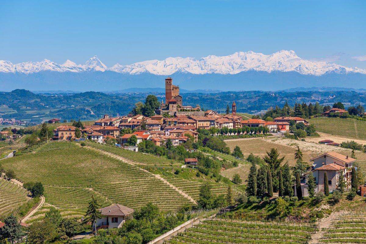 Αμπελώνες Ευρώπη  Piedmonte Γαλλία με αμπέλια και κρασιά