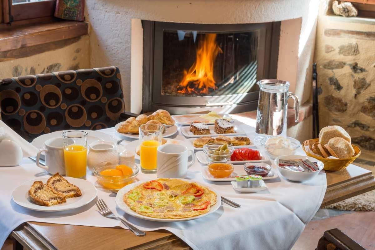 Ξενώνας Ρούγα, πρωινό
