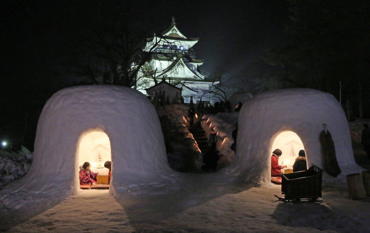 Χιονισμένες πόλεις στον κόσμο όπως η Akita στην ιαπωνία