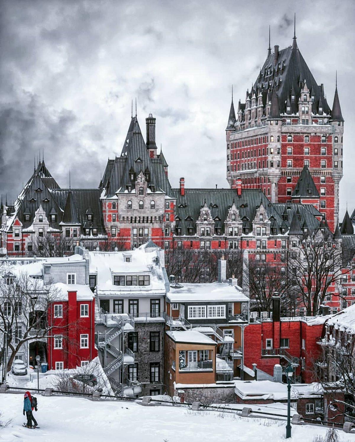 Χιονισμένο κεμπέκ στον Καναδά