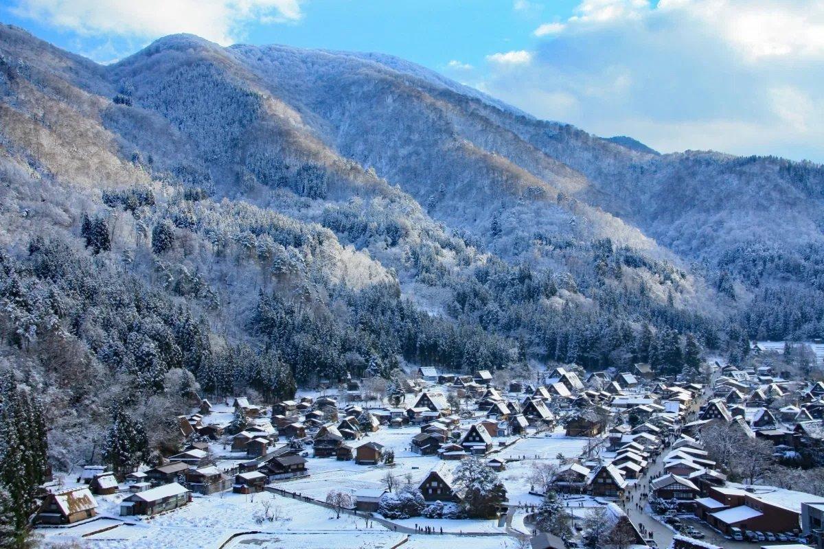 Χιονισμένες πόλεις στον κόσμο toyama Ιαπωνία