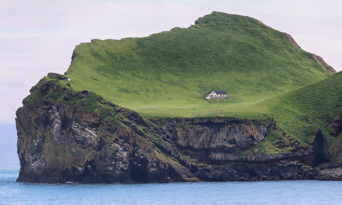 Ellieaey νησί Ισλανδία απομονωμένος ξενώνας