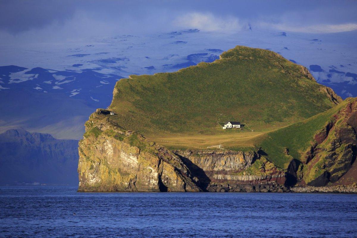Ellieaey νησί Ισλανδία απομονωμένος ξενώνας χωρίς ρεύμα