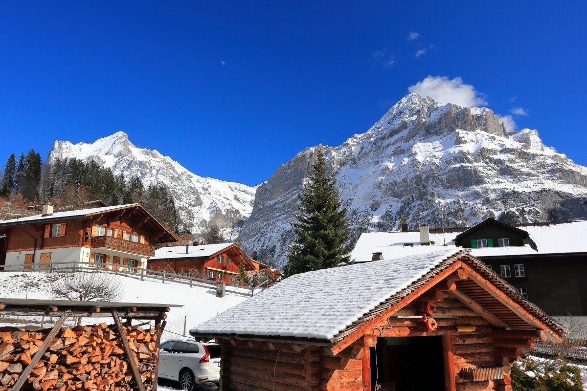 Γκρίντελβαλντ , Ελβετία, ξύλινα σπίτια