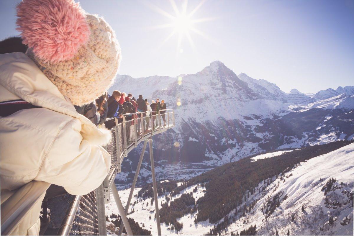 Υπέροχη θέα στο Γκρίντελβαλντ Ελβετικές Αλπεις,