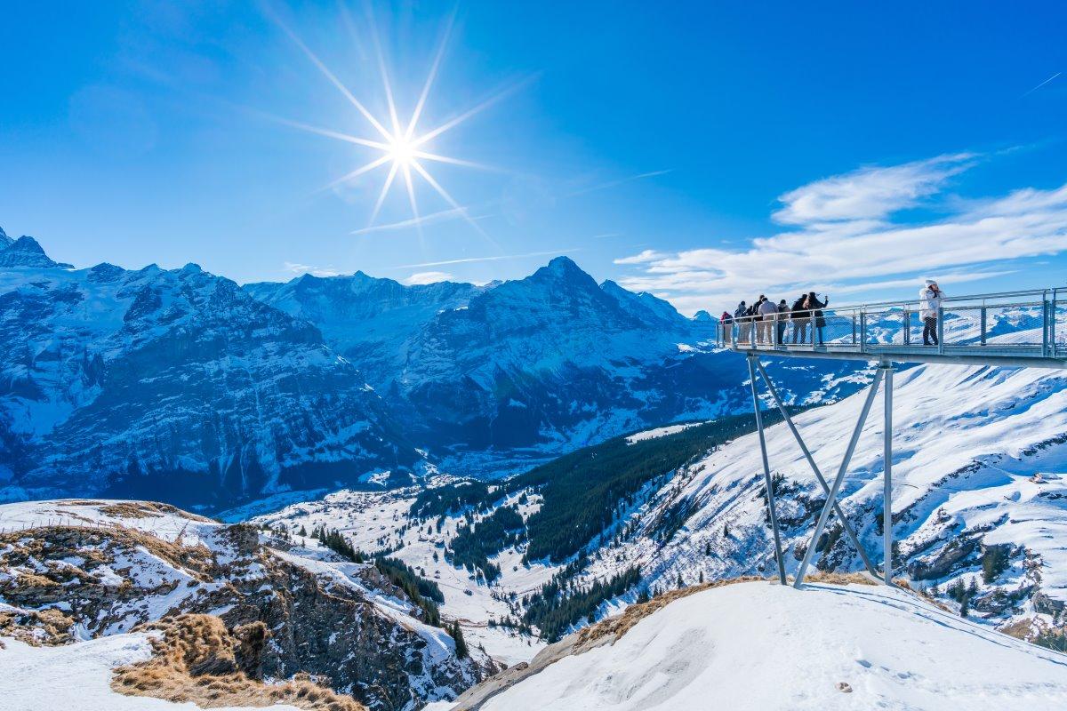 Cliff Walk Γκρίντελβαλντ Ελβετικές Αλπεις,
