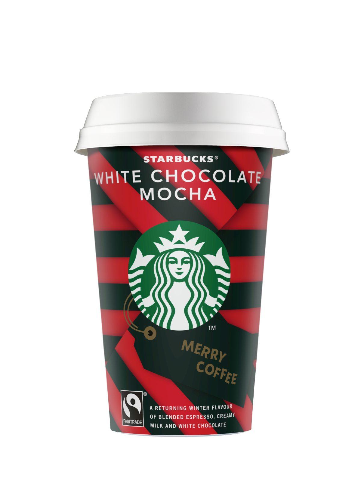 Τα αγαπημένα ροφήματα on the go των Starbucks, White Chocolate Mocha & Cappuccino «στολίζονται» και υποδέχονται τα Χριστούγεννα!