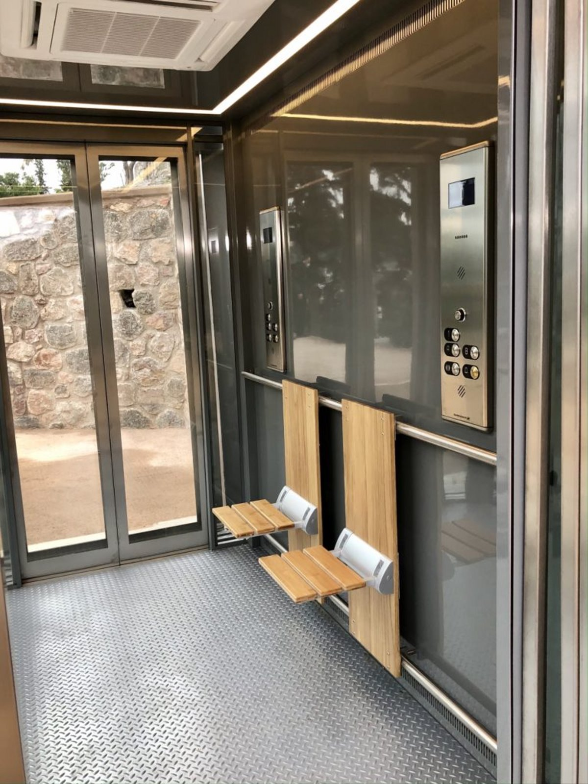 εσωτερικό ανελκυστήρα Ακρόπολης