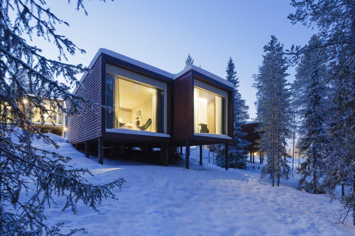 Arctic Tree House Hotel στα χιόνια