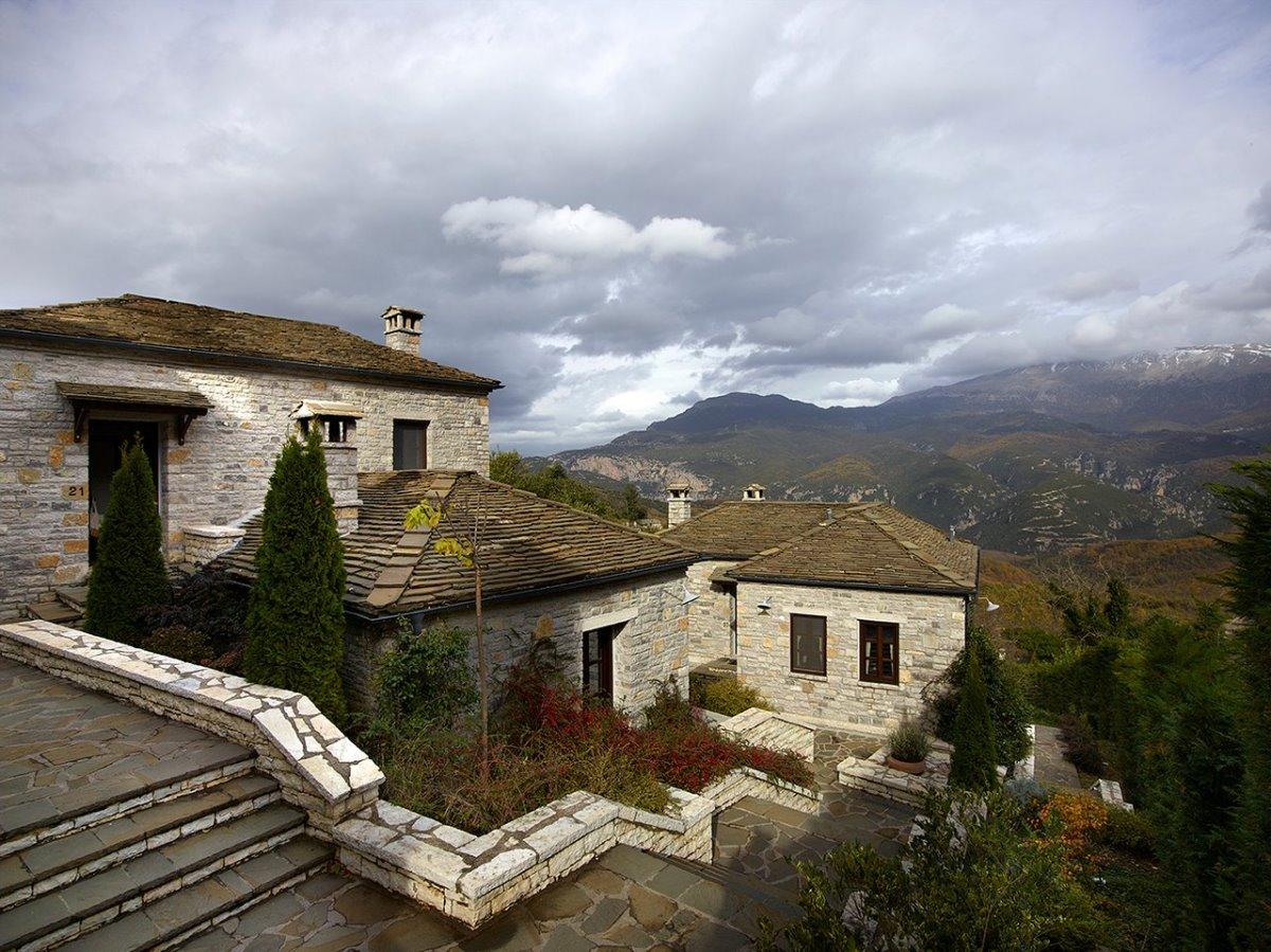 Aristi Mountain Resort πέτρινα σπιτάκια
