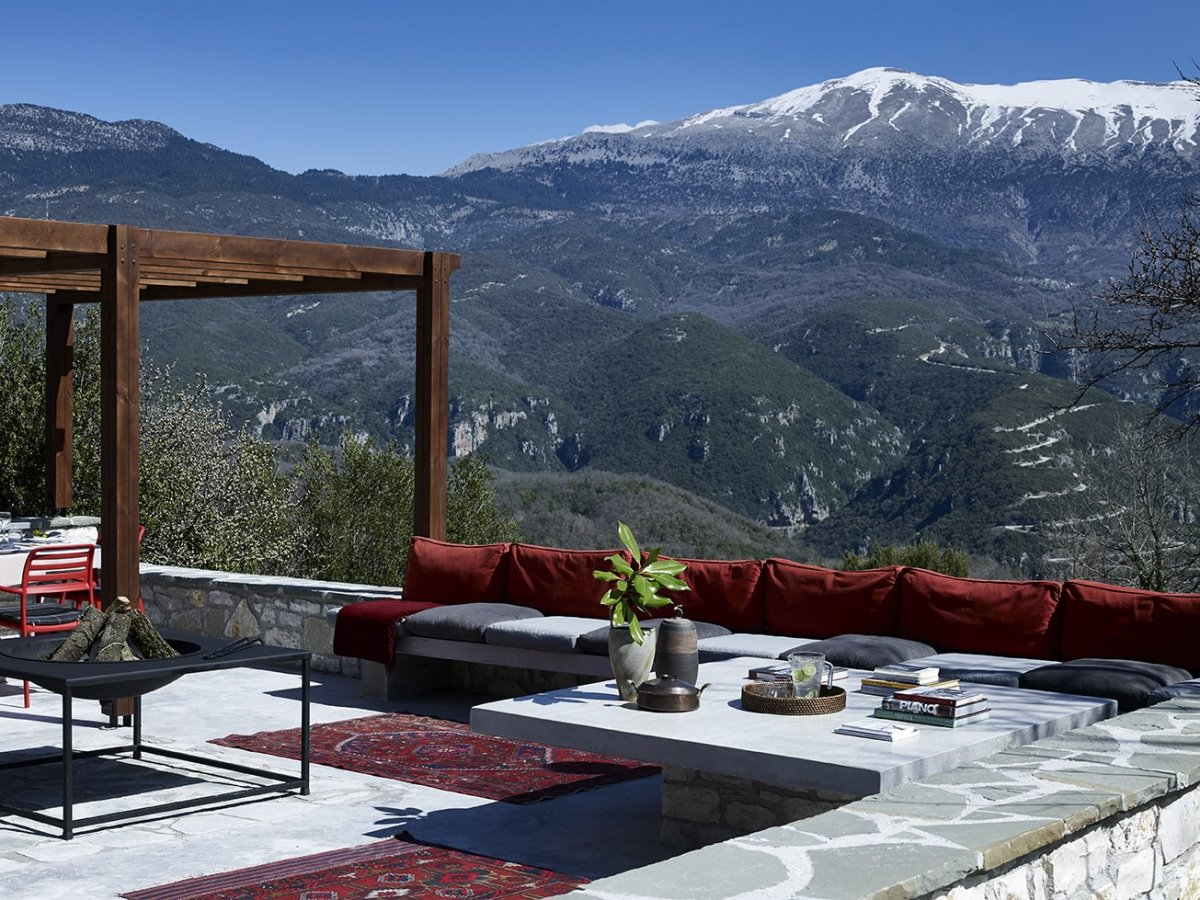 Aristi Mountain Resort πρωινό με θέα