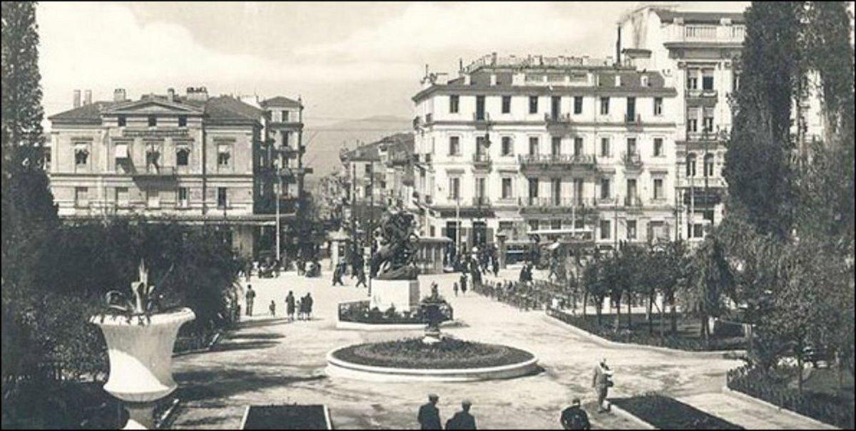 παλιά αθήνα πλατεία συντάγματος συντριβάνι