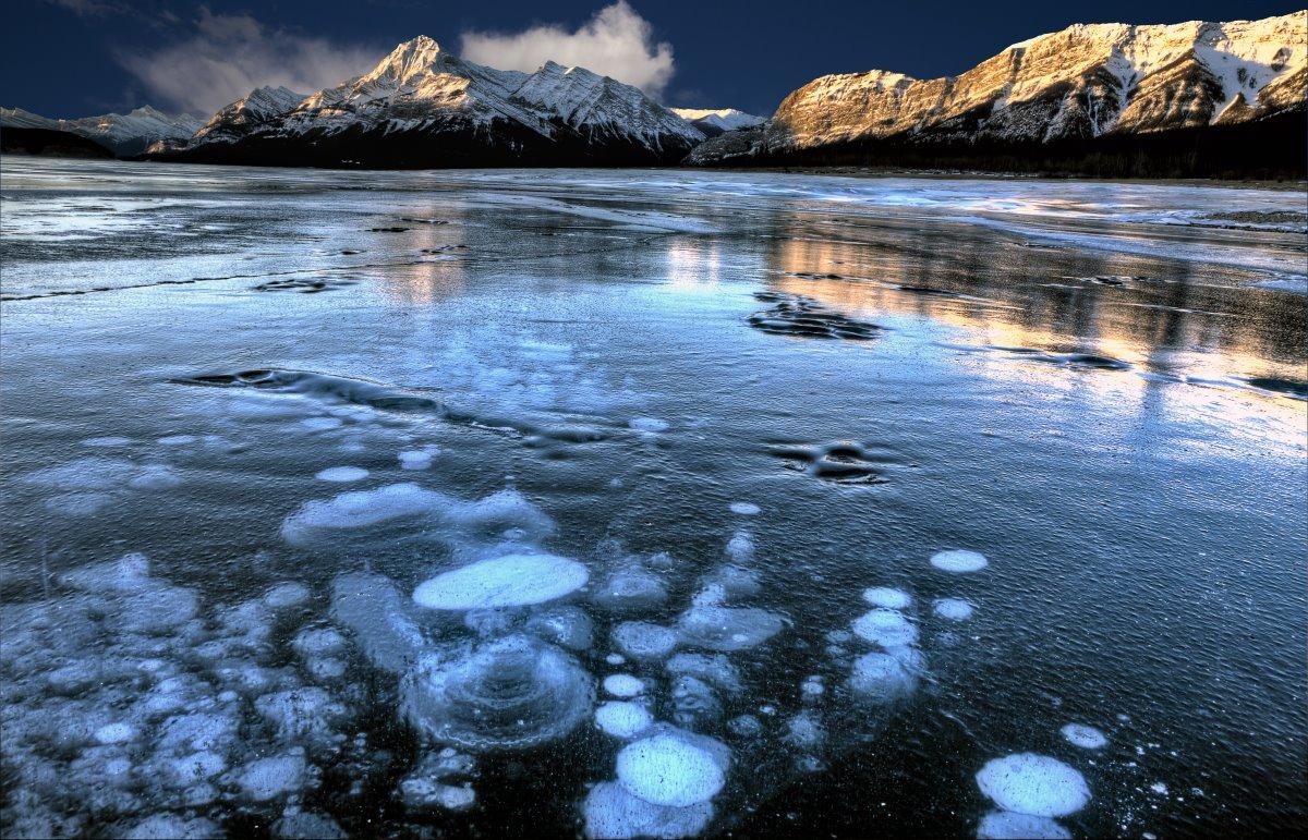 Οι παγωμένες φυσαλίδες μεθανίου, Καναδάς