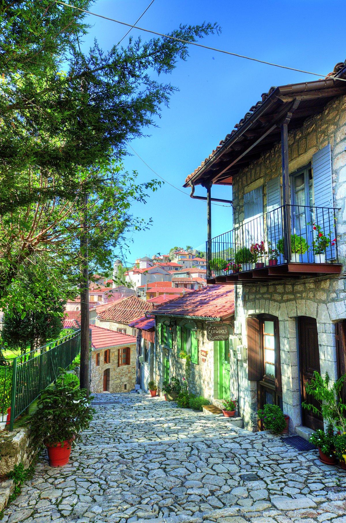 Δημητσάνα. στο κέντρο του χωριού