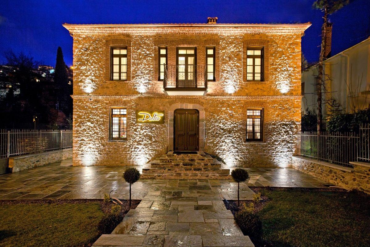 Doltso Hotel Καστοριά πανοραμική νύχτα