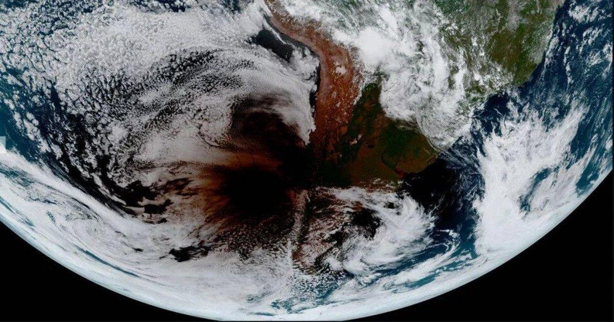 έκλειψη ηλίου εικόνα δορυφόρος 2020