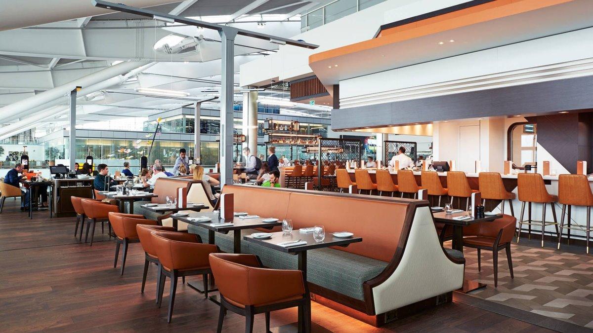 Εστιατόρια αεροδρομίων υψηλή μαγειρική και σεφ