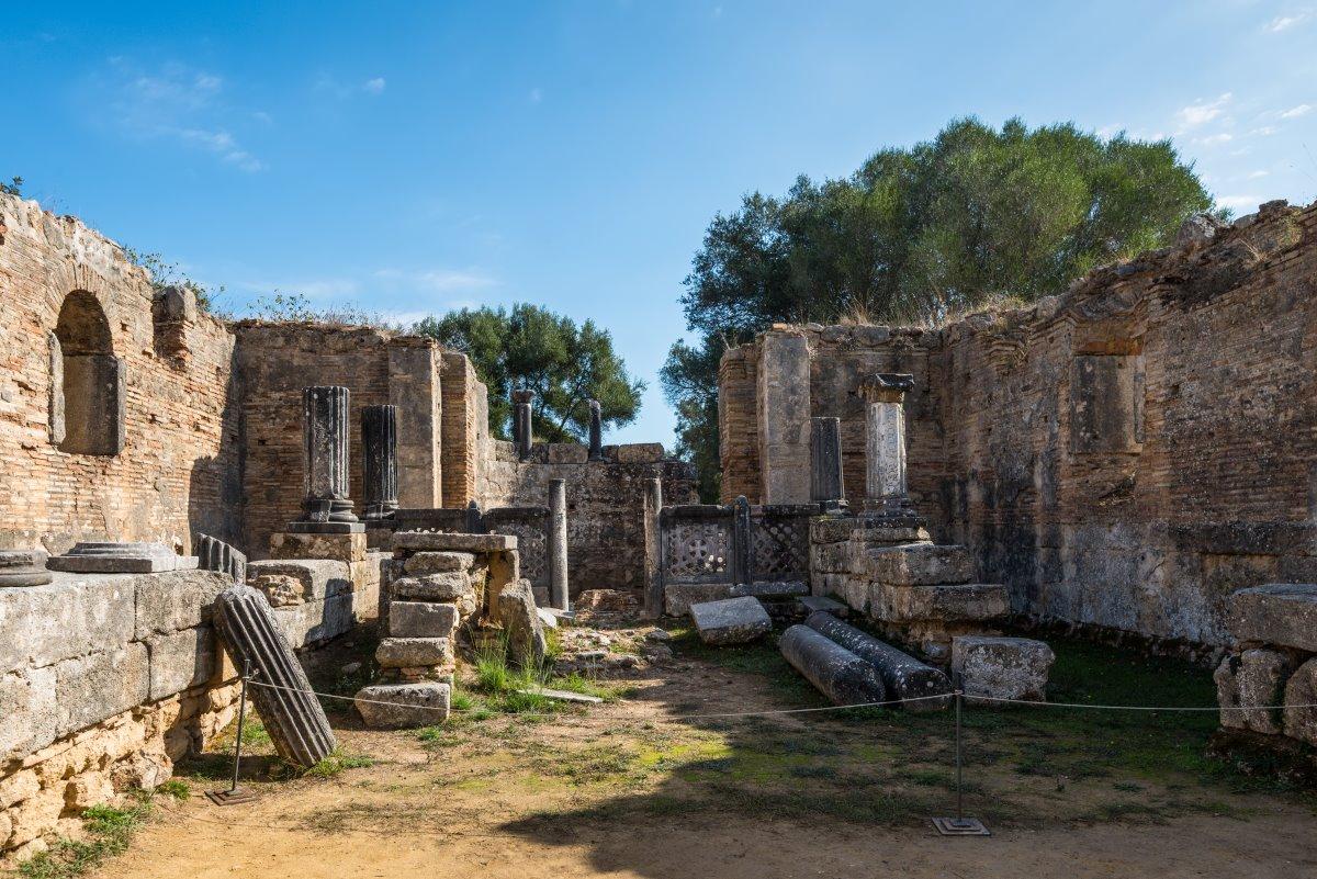 Αποκαθίσταται το Εργαστήριο Φειδία, Αρχαία Ολυμπία