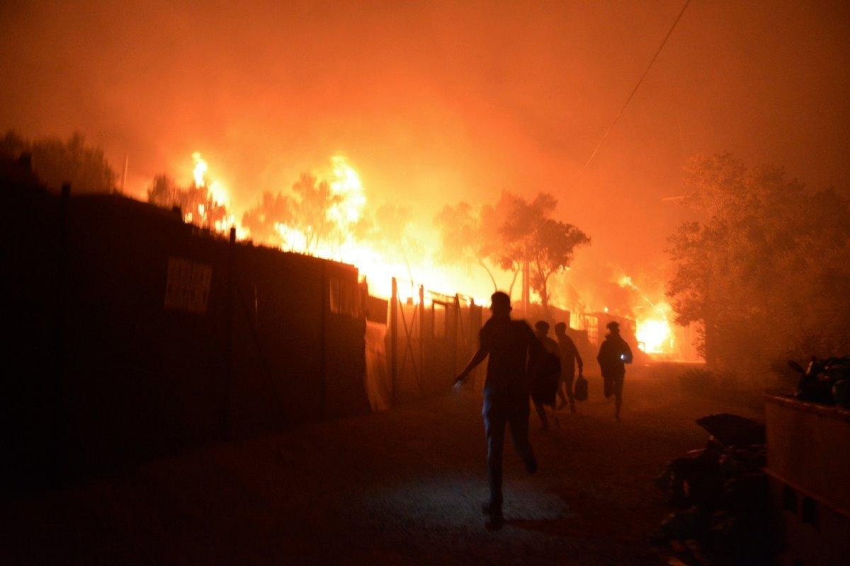 Ελλάδα φωτιά στη Μόρια