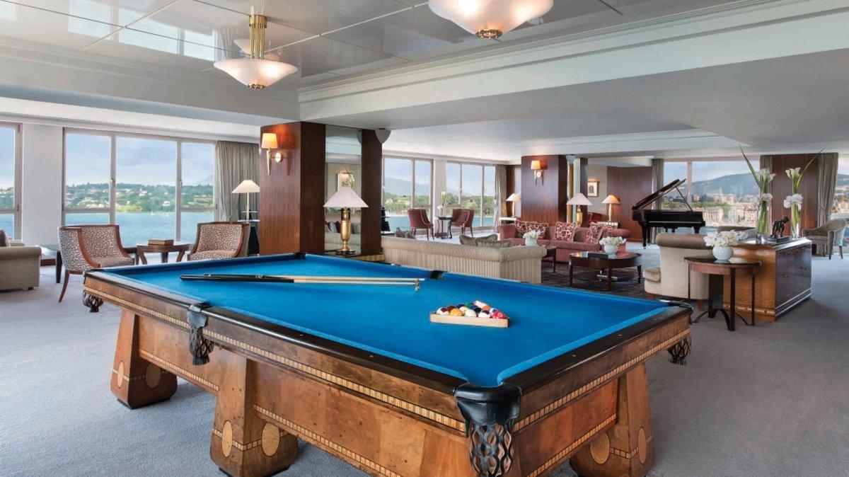 Hotel President Wilson Suite ακριβότερη σουίτα όπου υπάρχει μπιλιάρδο