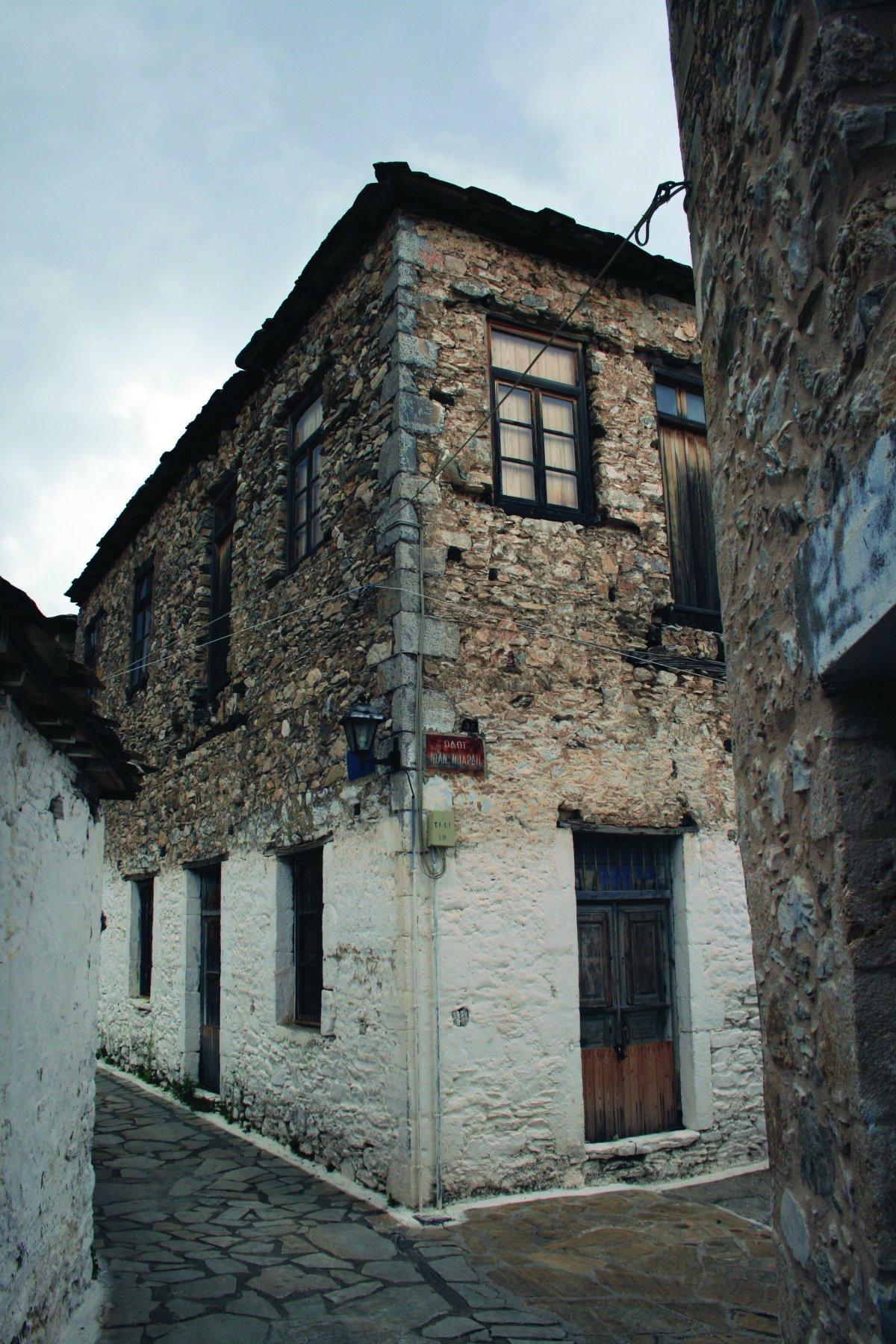 Καστάνιτσα, πέτρινα παραδοσιακά κτήρια