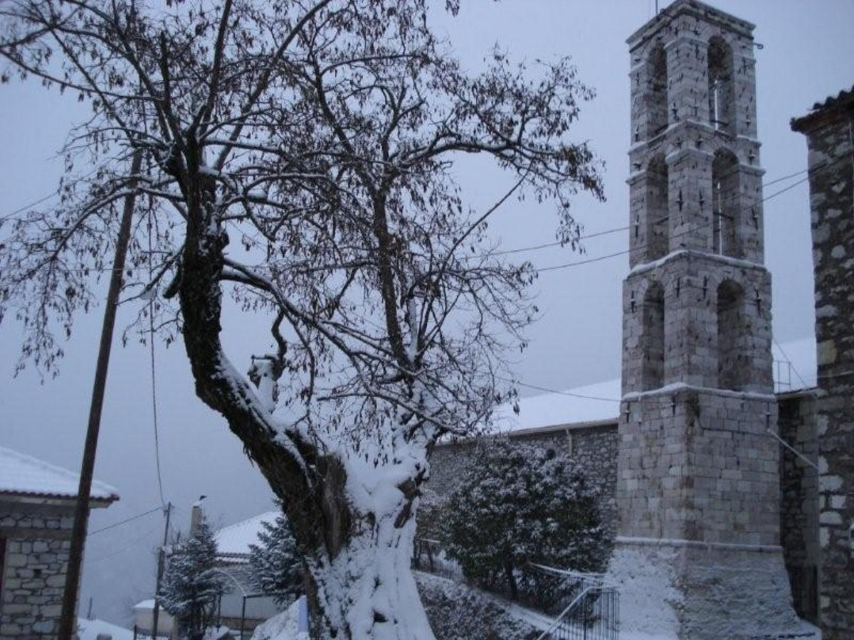 Λάμπεια Ηλείας χιονισμένη