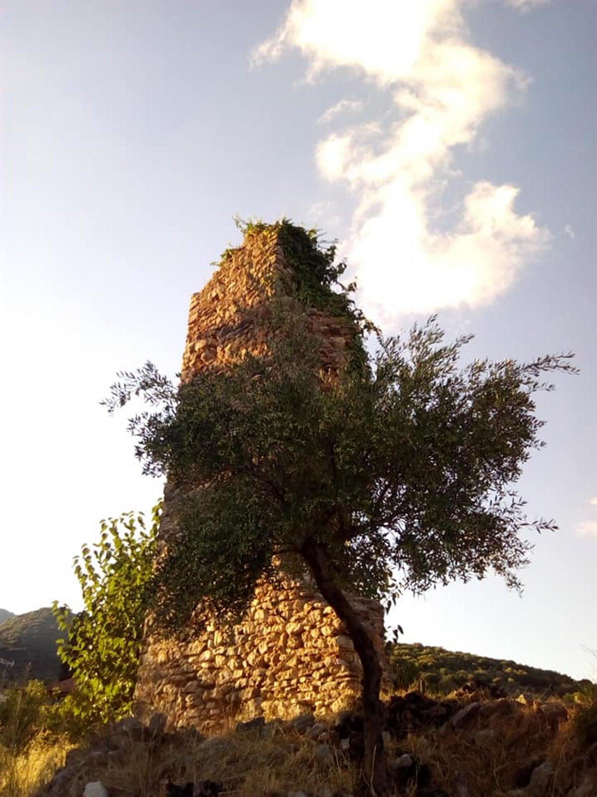 ερειπωμένος πύργος στο μαγγανιακό Μεσσηνίας