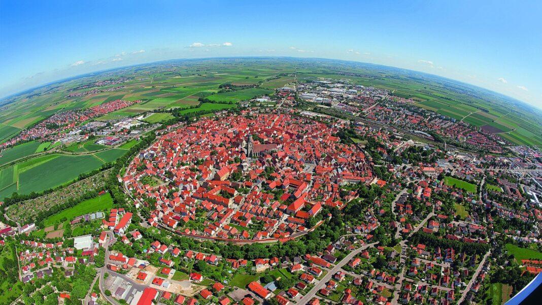 Nordlingen πόλη Βαυαρία πανοραμική