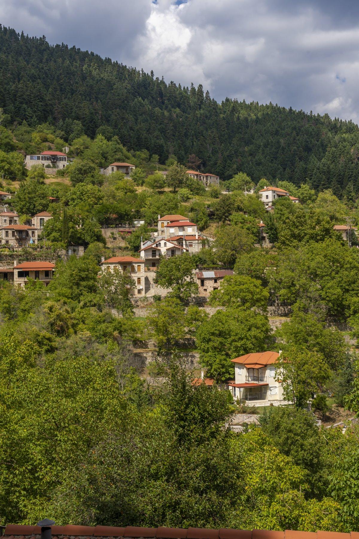 Νόστιμο Ευρυτανίας, γενική άποψη του χωριού