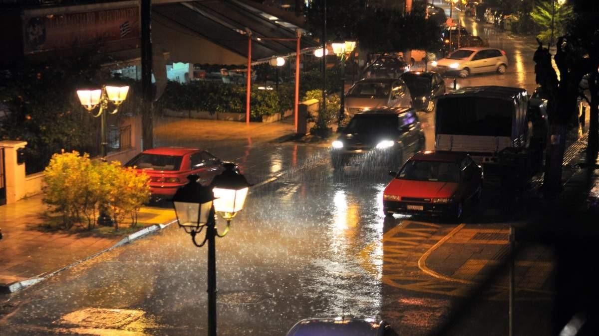 καιρός 4-12 βροχές και καταιγίδες κακοκαιρία