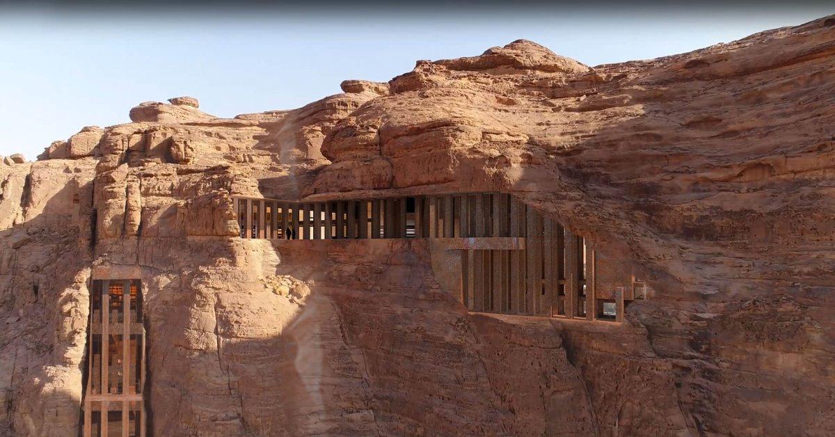 5άστερο resort μέσα στα βράχια στην έρημο
